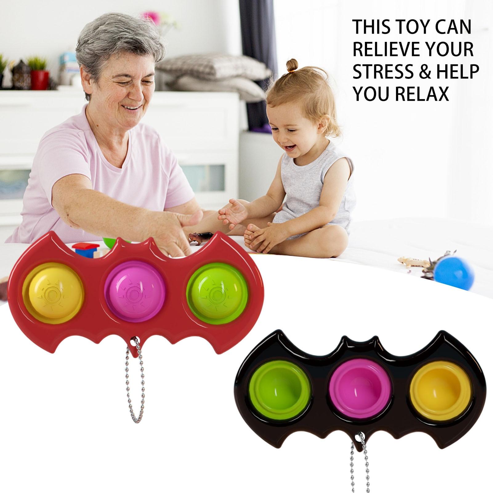 Двухцветный двусторонний брелок для снятия стресса, игрушка-пузырь, сенсорная фиксированная игрушка, подходит для взрослых и детей