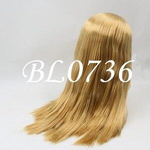 Image 5 - Blyth הבובה קפוא פאה רק rbl קרקפת הכיפה שומן שיער, זהב בלונד שחור ישר כחול כתום שיער