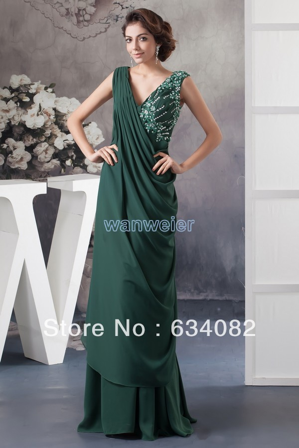 Free Shipping Brides 2018 New Design Formal Chiffon Beading Cap Sleeve Long Evening Gown Sexy Mother Of The Bride Dresses