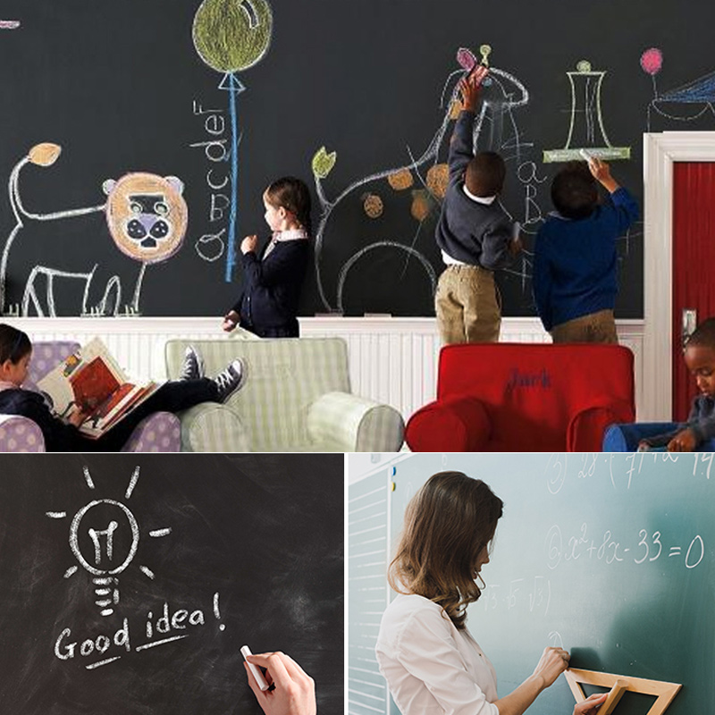 Erase Whiteboard Sticker Wall Decal Self-adhesive White Board Peel Stick Paper For School AS99