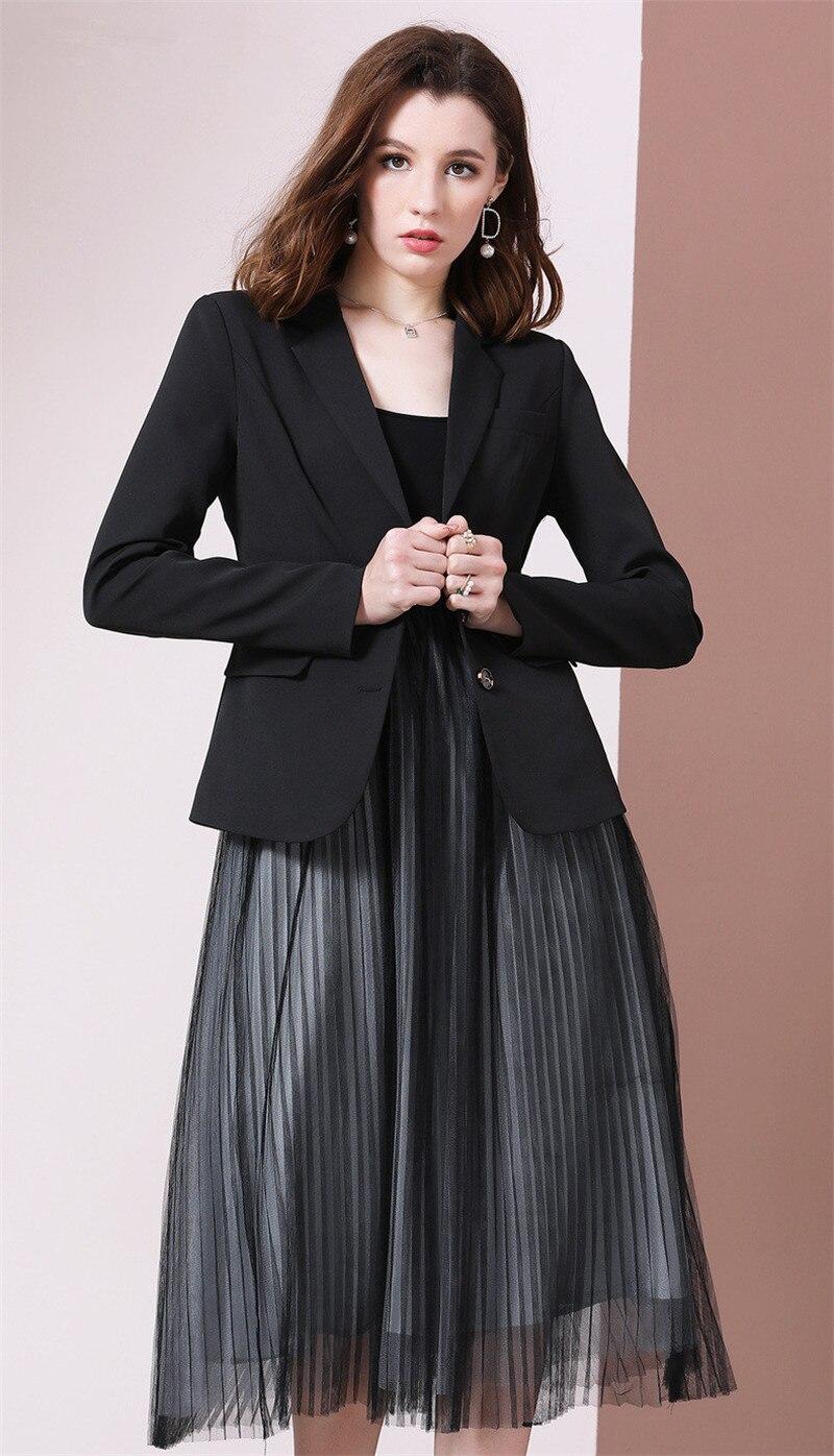 SZMALL Fashion Newest 2020 Women 2 Piece Set Slim Blazer Dress female Party High Quality Suit Autumn Social intercourse Clothes