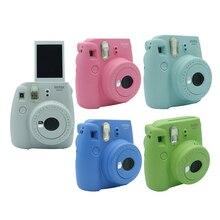 Fujifilm INSTAX Mini 9 Paquete de regalo de película instantánea de la Cámara nuevo 5 colores Navidad Año nuevo regalo foto de cámara instantánea