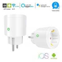 Smart Plug EU WiFi Buchse 10A/16A Timing APP Control Über iOS Android Telefon Funktioniert Mit Alexa Google Hause mini Voice Control