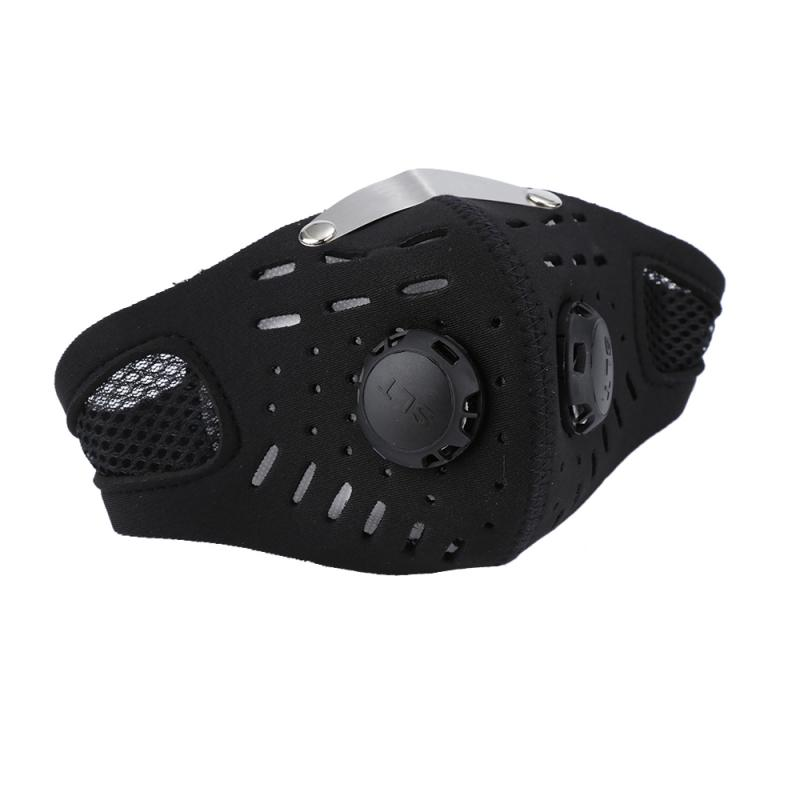 PM2.5 Black mouth Mask Activated Carbon Filter Half Face Mask Filter Anti-Dust Respirator Windproof Mask Health Care