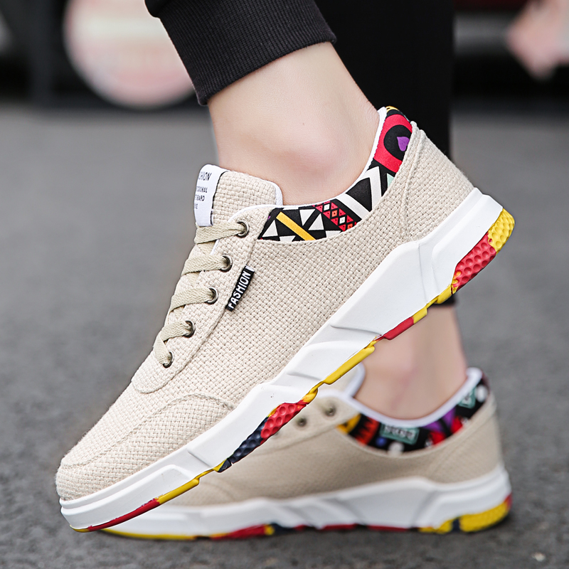 Men Summer Linen Shoes Fashion Brand Canvas Breathable Casual sneakers