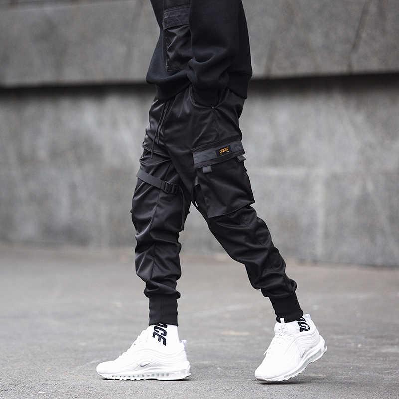 Áo Hàng Hóa Quần Đen Nơ Khối Đa năng Bỏ Túi 2019 Hậu Cung Quần Jogger Harajuku Sweatpant Hip Hop Casual Nam Quần Tây HOA KỲ kích thước