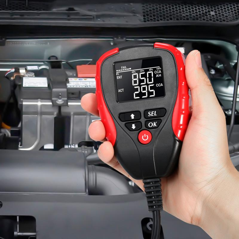 12V Digital <font><b>Car</b></font> Battery Tester With AH CCA Mode Repair Voltage Battery <font><b>Electronic</b></font> Load Battery Meter Analyzer Diagnostic <font><b>Tool</b></font> image