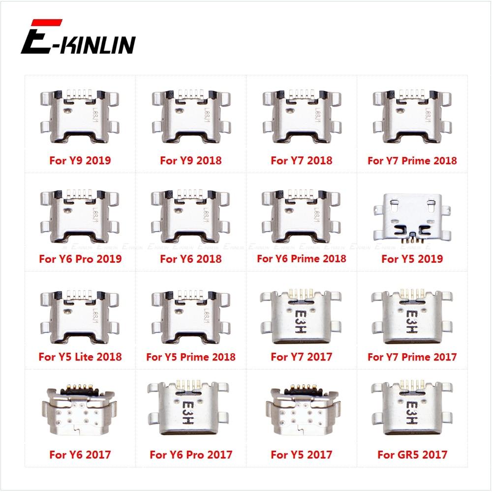 USB Jack Connector Charging Dock Plug Port For HuaWei Y9 Y7 Y6 Pro Y5 Prime Lite GR5 2017 2018 2019  Micoro Type-C Charge Socket