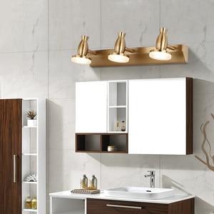 Image 5 - Zerouno Rose Golden Wall Lights Led mirror Lamp 3w 6w 9w16cm 32cm 46cm Bathroom Makeup vanity Lights Fixtures Lamp Bulb washroom