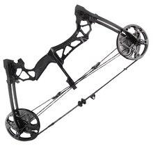 Arco compuesto potente de 40 60lbs con adsorción magnética, uso de bolas de acero, munición y flechas para tiro con arco al aire libre
