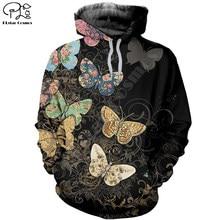 Plstar cosmos 3dprint animal borboleta colorido newfashion unisex homem/mulher harajuku streetwear engraçado hoodies/moletom/zip a13