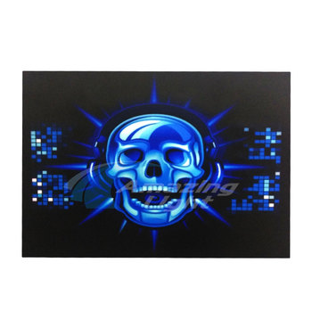 Skull Equalizer Party Light Up LED Panel El Panel Sound Activated Flashing El Panel For T-Shirt image