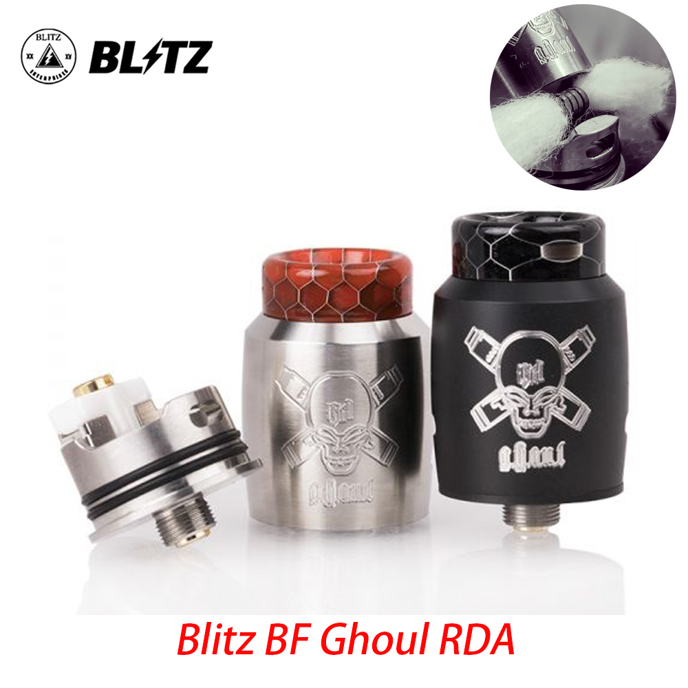 Blitz Ghoul BF RDA With 510 Threading Connection Innovative Single Coil Rebuildable Tank BF Pin 22mm VS Dead Rabbit V2