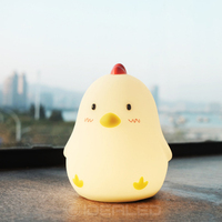 Cute Chick LED night Lamp Alarm clock 3D Charging Cute Light Gift Bedside Path Chick Shape Decorative animal style for bedroom