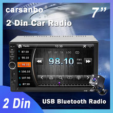 7 zoll 2Din Touchscreen Auto Radio Bluetooth Stereo MP3 MP5 Multimedia Video Player Rückfahr Display USB Verbindung Android IOS