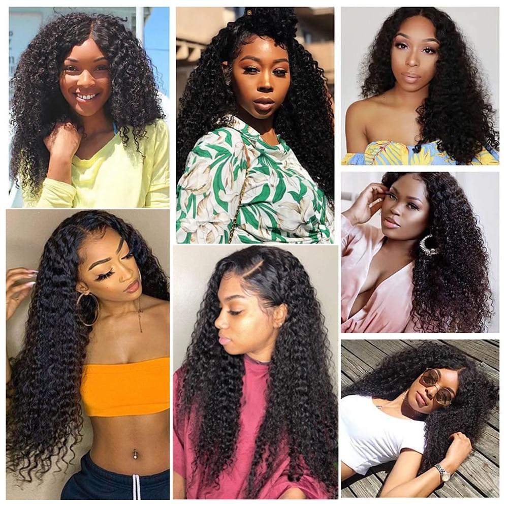Kinky Curly Bundles 100%  s Natural Color 1 3 4 Bundles   8 - 30 40 Inch Length 6
