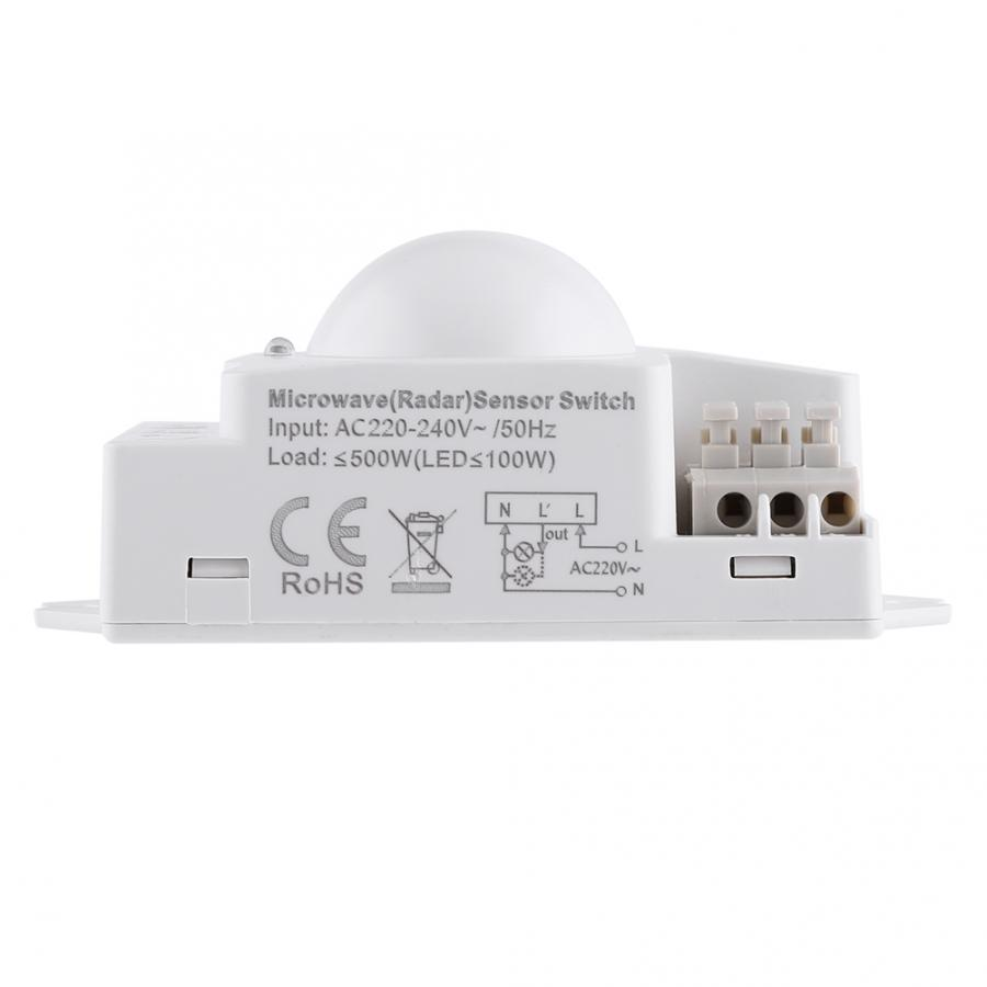 Microwave Light Switch 360 Degree 500W Microwave Smart Motion Detector Radar Sensor Light Switch