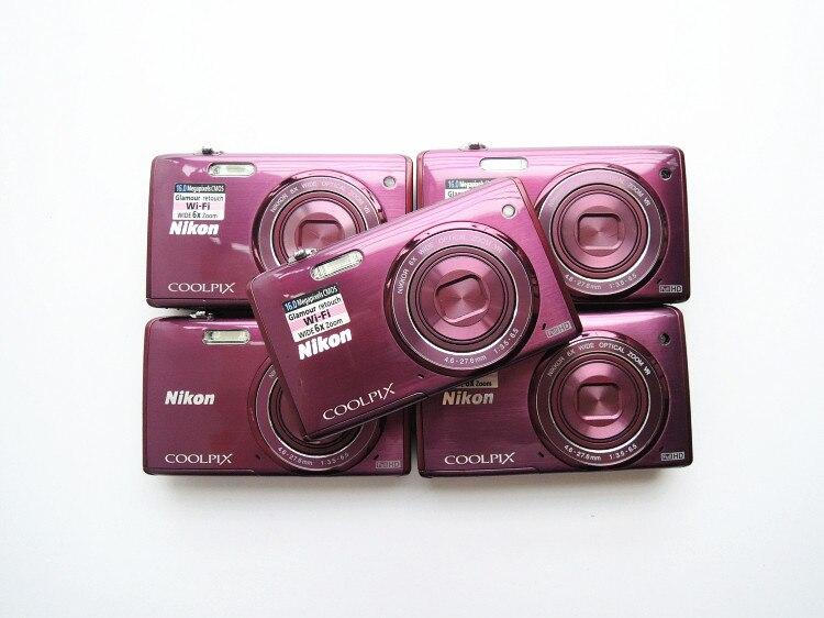 Используется Nikon COOLPIX S5200 Wi-Fi CMOS цифровая камера с 6x зум-объективом Специальная цена