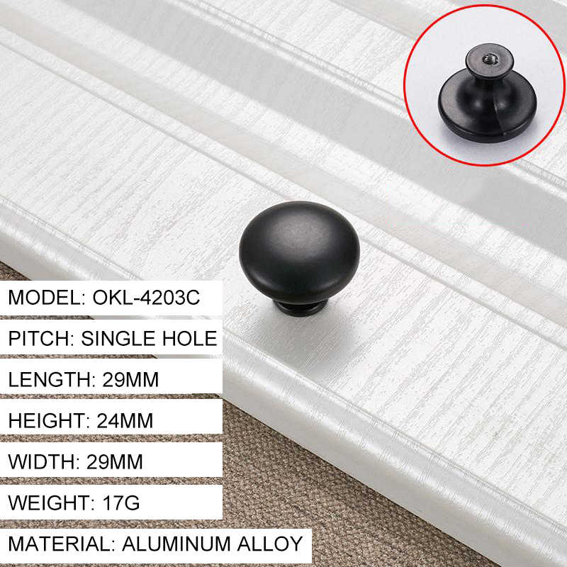 American Style Black Door Cabinet Handles Aluminum Alloy Kitchen Cupboard Pulls Drawer Knobs Furniture Handles Hardware Hot Sale