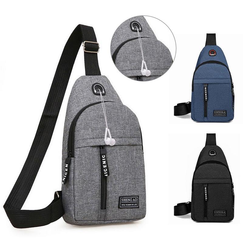 Male Women Nylon Waist Packs Sling Bag Crossbody Outdoor Sport Shoulder Chest Daily Picnic Canvas Messenger Pack Bolsa #T2P