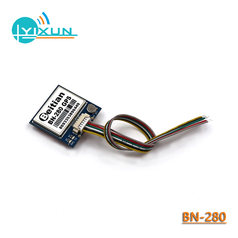 GNSS GPS Beidou module with 4M FLASH, GLONASS dual mode positioning, UART TTL level, 9600bps, 1Hz, 1PPS, 5.0V, BEITIAN <font><b>BN</b></font>-<font><b>280</b></font> image