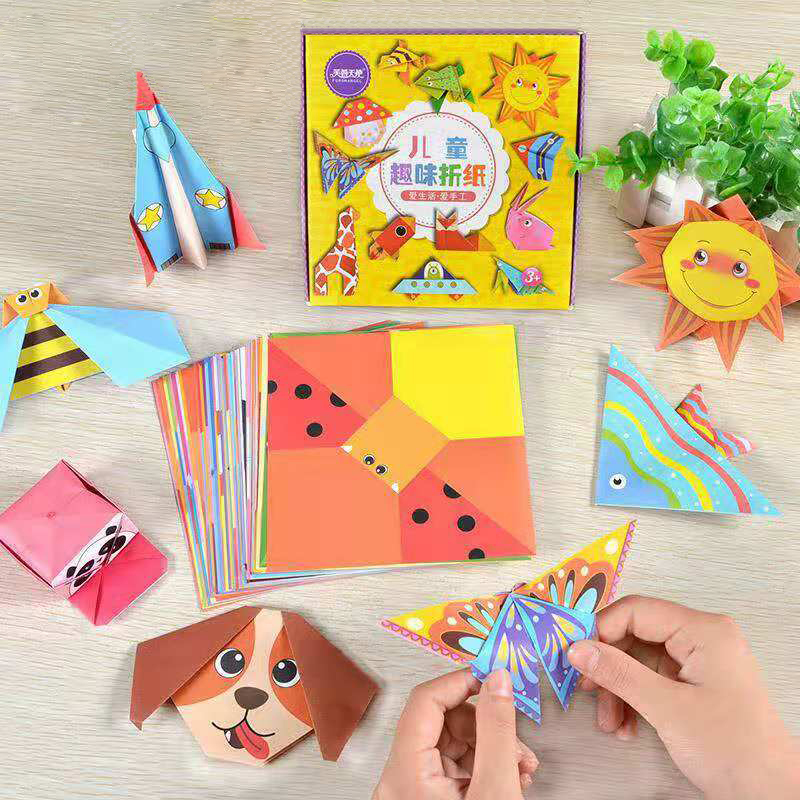 Montessori DIY Toys 3D Kids Fun Cartoon Origami Paper-cut Colorful Book Crafts Kits For Children Creativity Toys Birthday Gifts