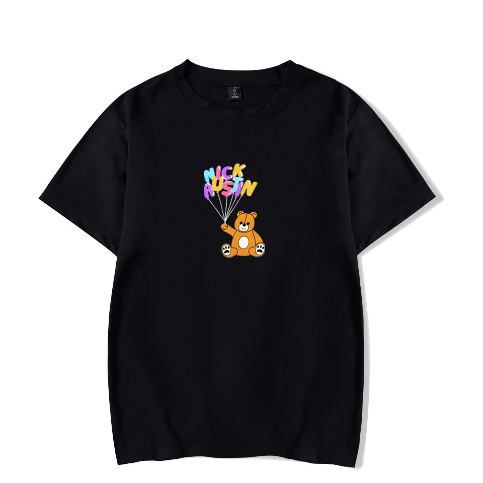 2020 New NICK AUSTIN PUFF TEDDY BEAR BLACK T-SHIRT Korean Loose Tops Ins Tide T SHIRT Casual Streetwear Kpop Unisex T Shirts