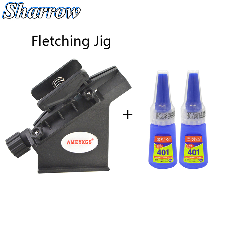 Archery Fletching Jig Stick Set Feather Jig Can Stick Straight And Helix Feather ,401 Glue Or Tape Arrow Bow Hunting Accessories
