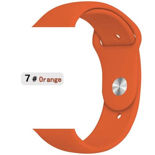 Ремешок для apple watch band 44 мм/40 мм iwatch band 5 4 42 мм 38 мм correa pulseira watch band для apple watch 5 4 3 браслет 44 мм - Цвет ремешка: orange 7
