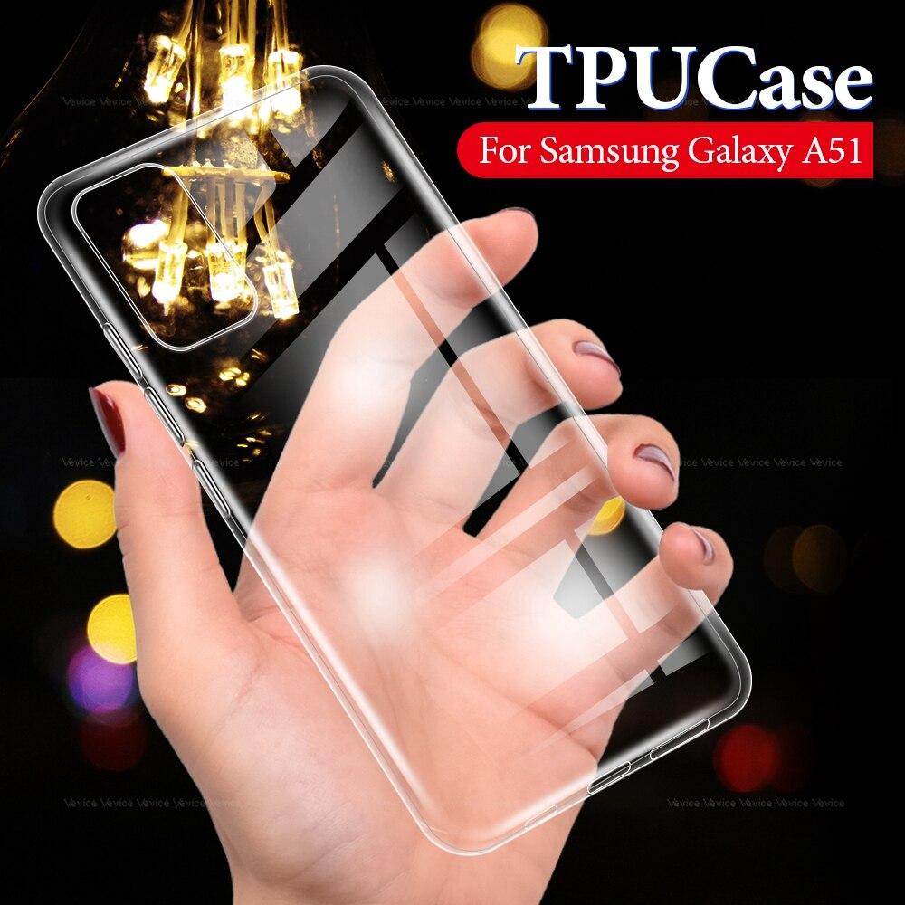 Transparent TPU Case For Samsung Galaxy A51 A71 A50 A70 Silicone Cover Cases For Galaxy A50 A 50 70 51 71 Protective Coque Funda