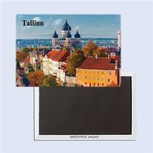 Estonia tourist souvenirs,Tallinn city View  magnetic fridge magnets, Creative refrigerator Travel souvenirs Gifts terhi pääskylä malmström minu tallinn kalevitüdruku kroonika