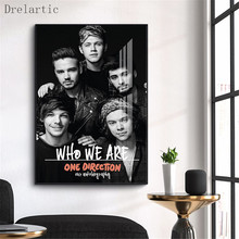 One Direction#k Home Decoration Custom Canvas Painting Wall Silk Poster Cloth#KC-17