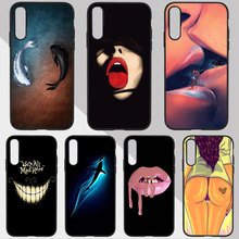 Stylish Cool Fish cat art funny Phone Case For SamSung a50 a70 a30 S7 edge S9 S8 S6 A5 2017 A8 A6 a7 2018 Silicone Soft TPU