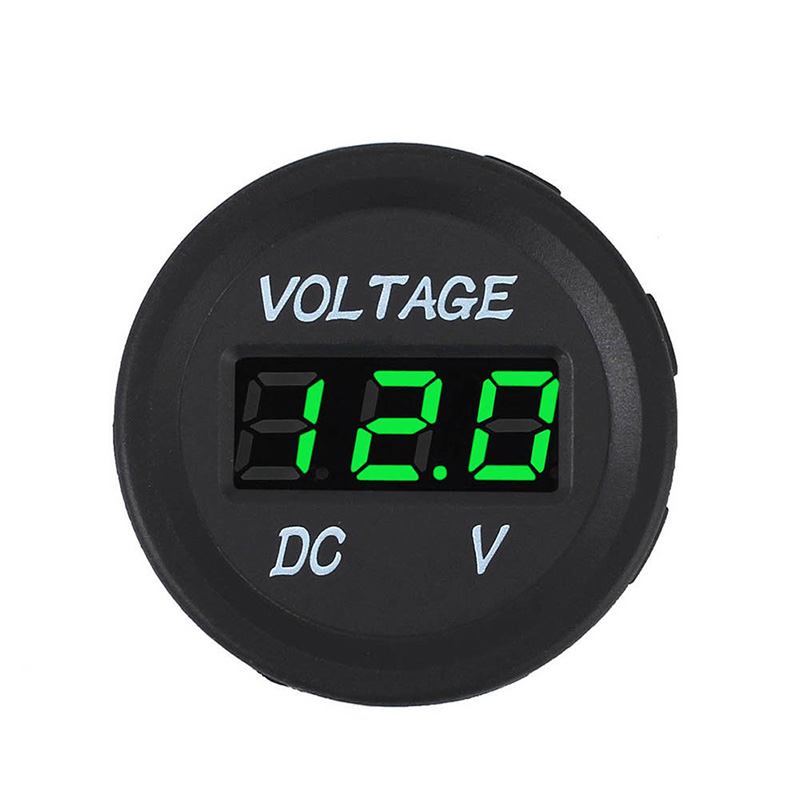 1pc LED Digital Voltmeter 3.7cm 12V 24V Car Marine Motorcycle Voltage Meter Cars Battery Gauge Tools