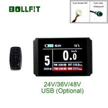BOLLFIT Kunteng KT Lcd8h Lcd8จอแสดงผลE Bikeไฟฟ้าจักรยานจอแสดงผลชุดอุปกรณ์เสริมKT LCD 8