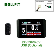 Bollfit kunteng kt lcd8h lcd8ディスプレイ、eバイク電動自転車自転車ディスプレイ変換キットアクセサリーkt液晶8ディスプレイ