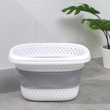 Складная пластиковая корзина для белья Овальная Ванна/корзина