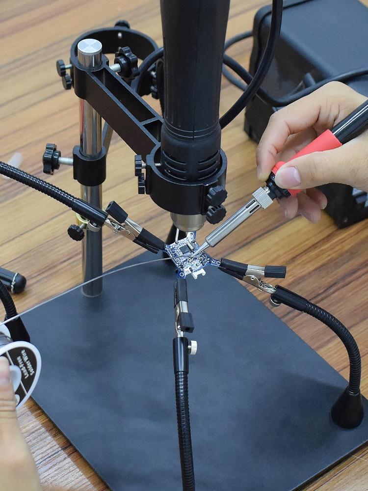 NEWACALOX Pcb-Board-Holder Stand Frame Magnifying-Glass Heat-Gun Soldering-Tool Third-Pana