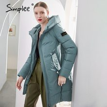 Warm Coat Women's Jacket Simplee Hooded Office Female Long Cotton Casual Lady Brand-New