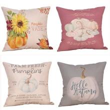 Pillowcase New Fashion Halloween Pillow Case Cute Waist Throw Cover 45*45Cm Taie doreiller