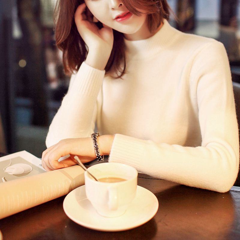 Warm Solid Turtleneck Winter Sweater Casual Long Sleeve Knitted Women Sweaters And Pullovers Jersey Jumper Pull Femme Hiver