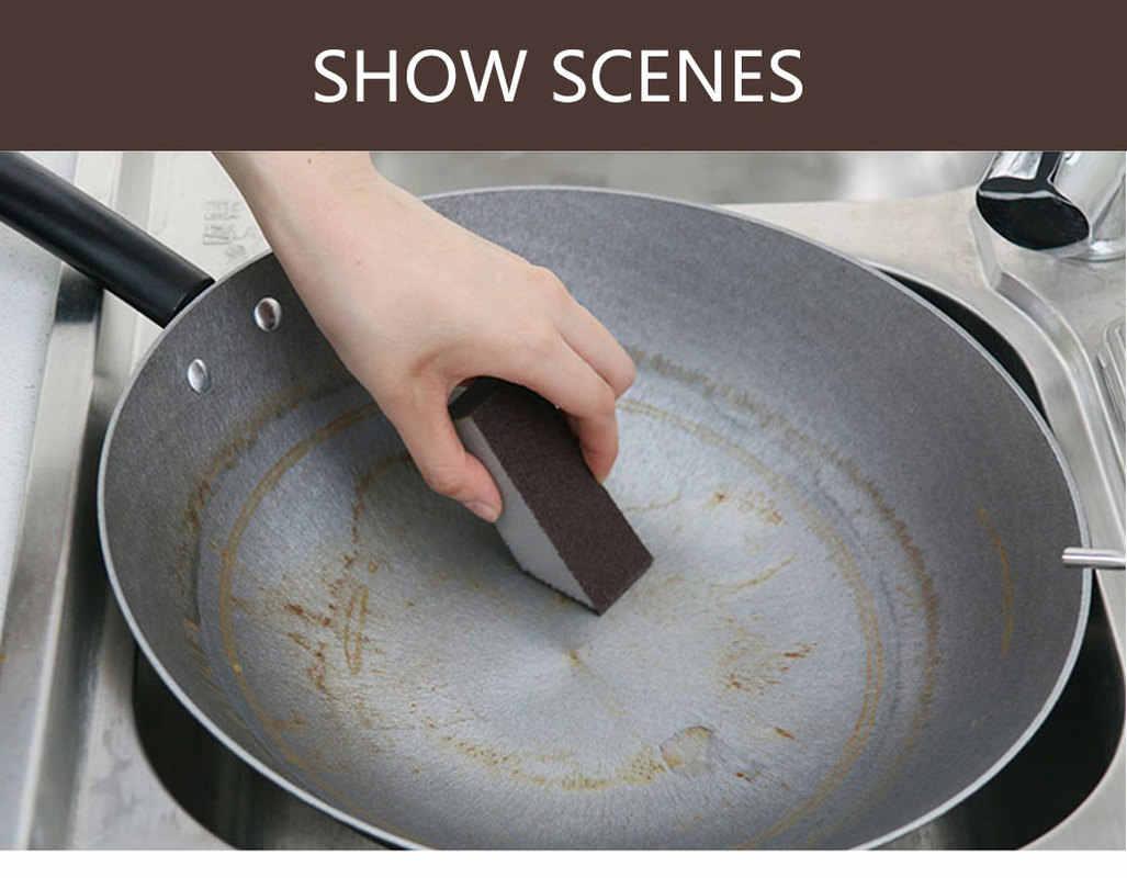 1pcs Magic Sponge Eraser ผ้าฝ้าย Emery ฟองน้ำสำหรับสำนักงานห้องน้ำห้องครัวอุปกรณ์เสริมจานทำความสะอาดฟองน้ำทำความสะอาด