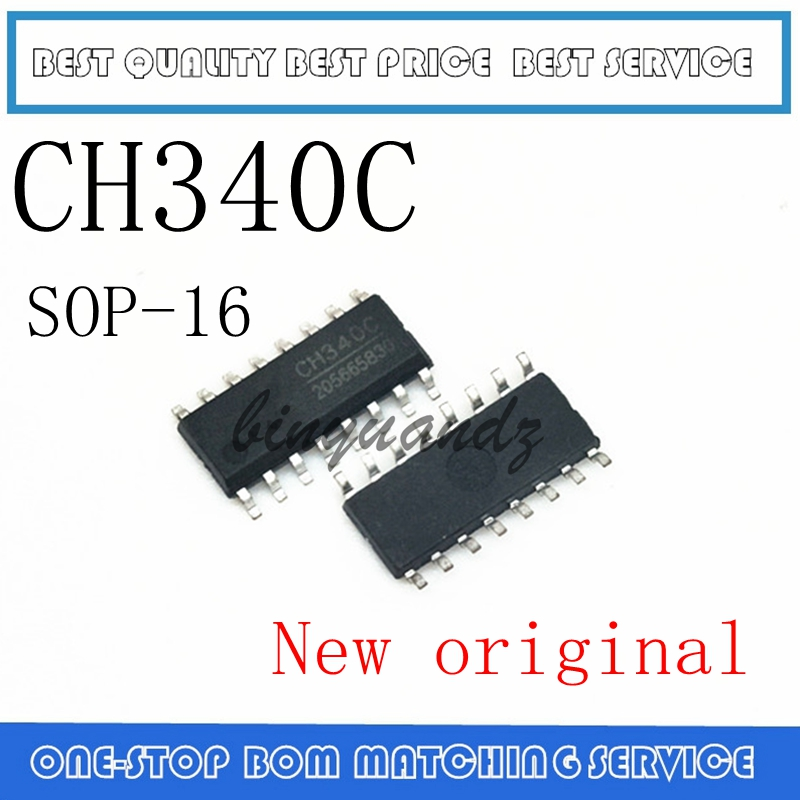 10pcs/lot CH340C SOP-16 USB Serial Chip New Original