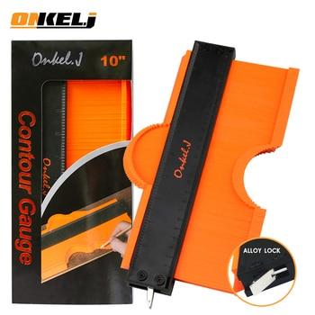ONKEL.J Brand Lock Wider Contour Gauge Profile Tool Alloy Edge Shaping Wood Measure Ruler Laminate Tiles Meethulp Gauge 1