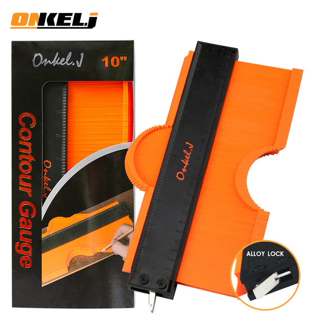 ONKEL.J Brand Lock Wider Contour Gauge Profile Tool Alloy Edge Shaping Wood Measure Ruler Laminate Tiles Meethulp Gauge 1