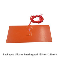 Silicone heating plate heater 155mmx230mm for 3d printer heat bed