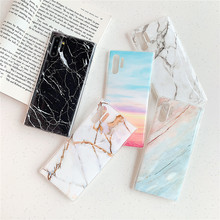 цены Phone Case For Samsung Galaxy Note 10 Plus Pro 5G Case Luxurry Marble Soft Silicone TPU Cover For Galaxy Note 10 Case Cover Capa
