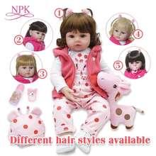 bebes reborn doll 48cm Silicone baby adorable Lifelike toddler Bonecas girl menina de surprice with hands open
