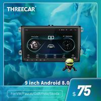New 9 inch Car Multimedia Player Android 8 GPS Auto radio 2 Din USB For Volkswagen/VW/ Passat/POLO/GOLF/Skoda/Seat/Leon Radio