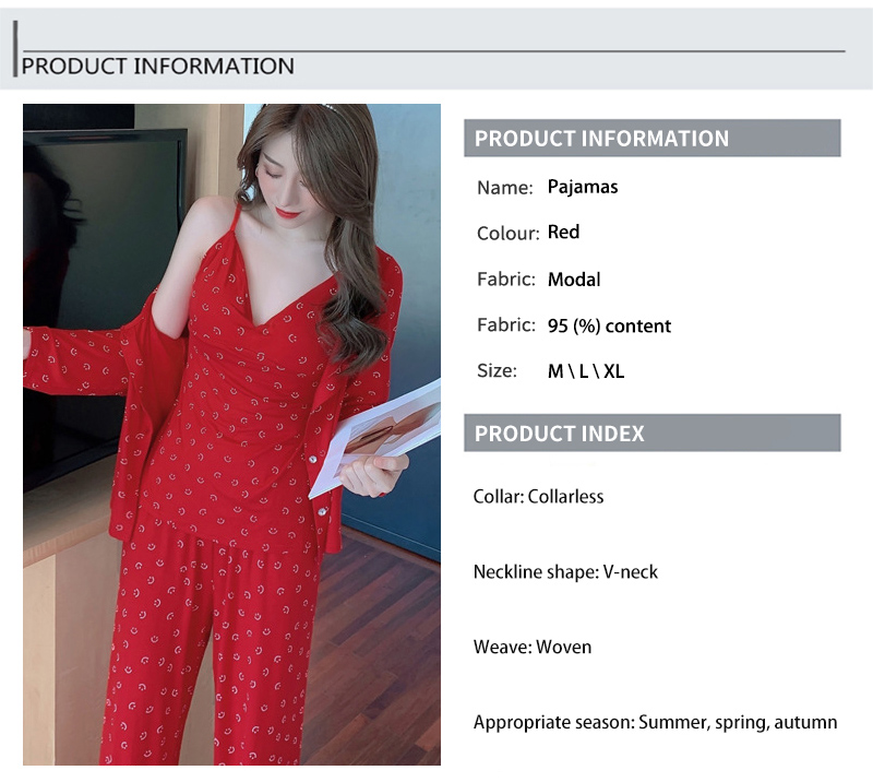 rosto pijamas feminino temperamento confortável e sexy